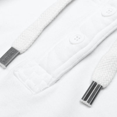 Fat Face Cut Label Henley Terry Fleece Hoodie For Men-White-BE6297