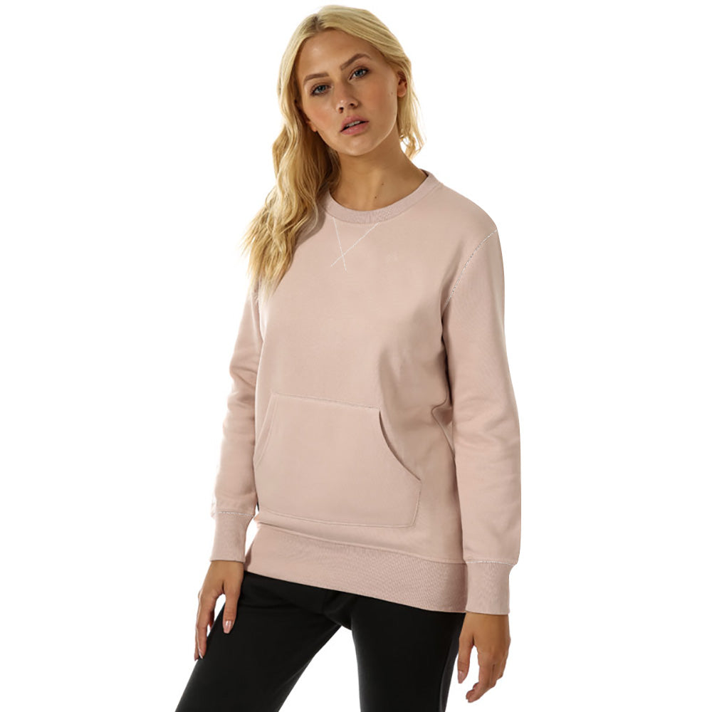 Fat Face Fleece Crew Neck Longline Sweatshirt For Ladies-BE9882