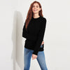 NYC Terry Fleece Sweatshirt For Women-Black-BE6941