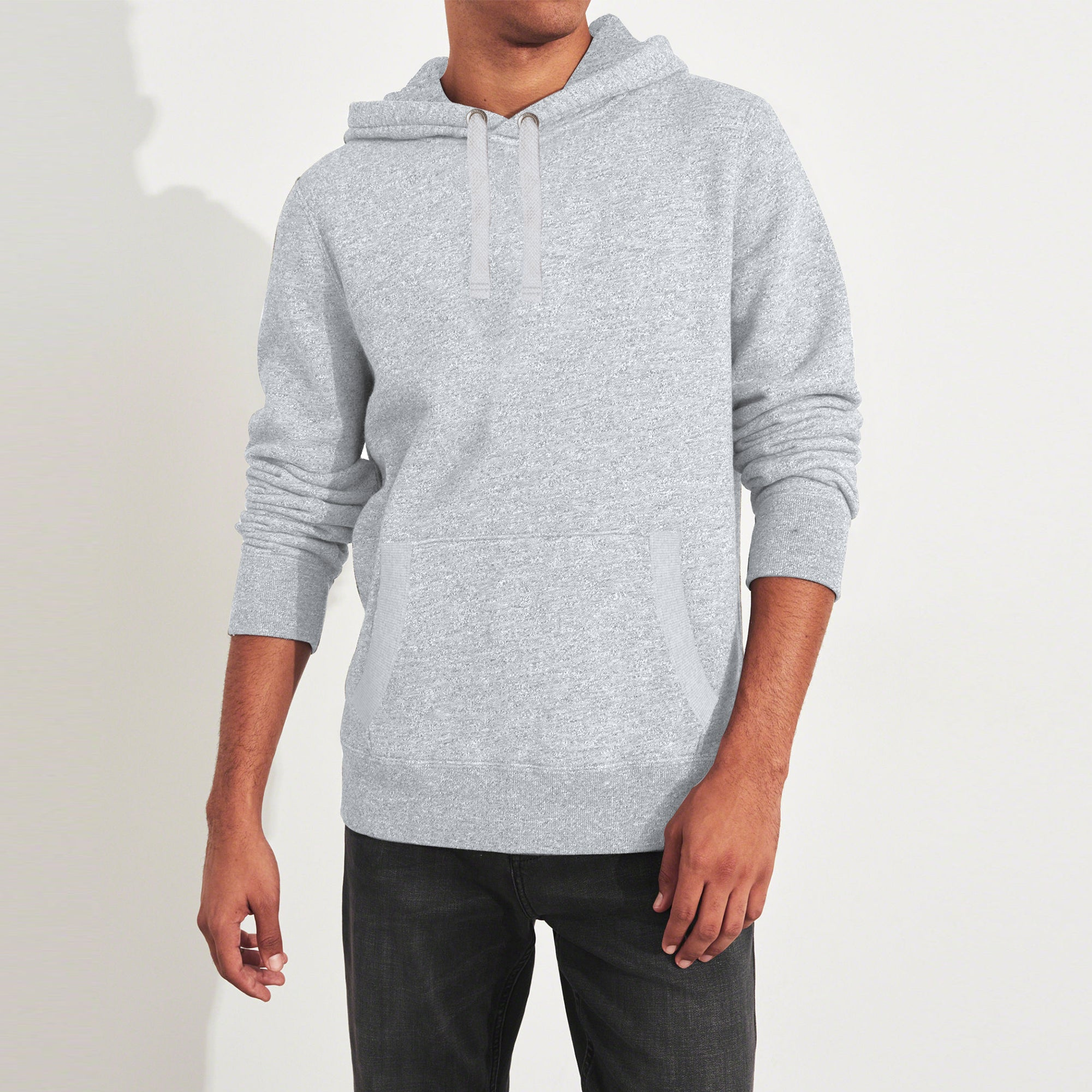 Fat Face Fleece Pullover Hoodie For Men-Grey Melange-BE6527