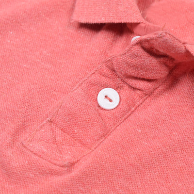 Fat Face-P.Q-Polo-Shirt-For-Men-Coral Pink Melange-BE4848