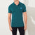 Henry James P.Q Polo Shirt For Men-Dark Cyan Green-BE5702