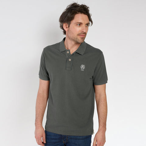 Fat Face-P.Q-Polo-Shirt-For-Men-Dark Slate Grey-BE4793