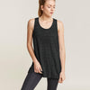 Fat Face Sleeveless Stylish Blouse For Ladies-Charcoal Melange-BE8461