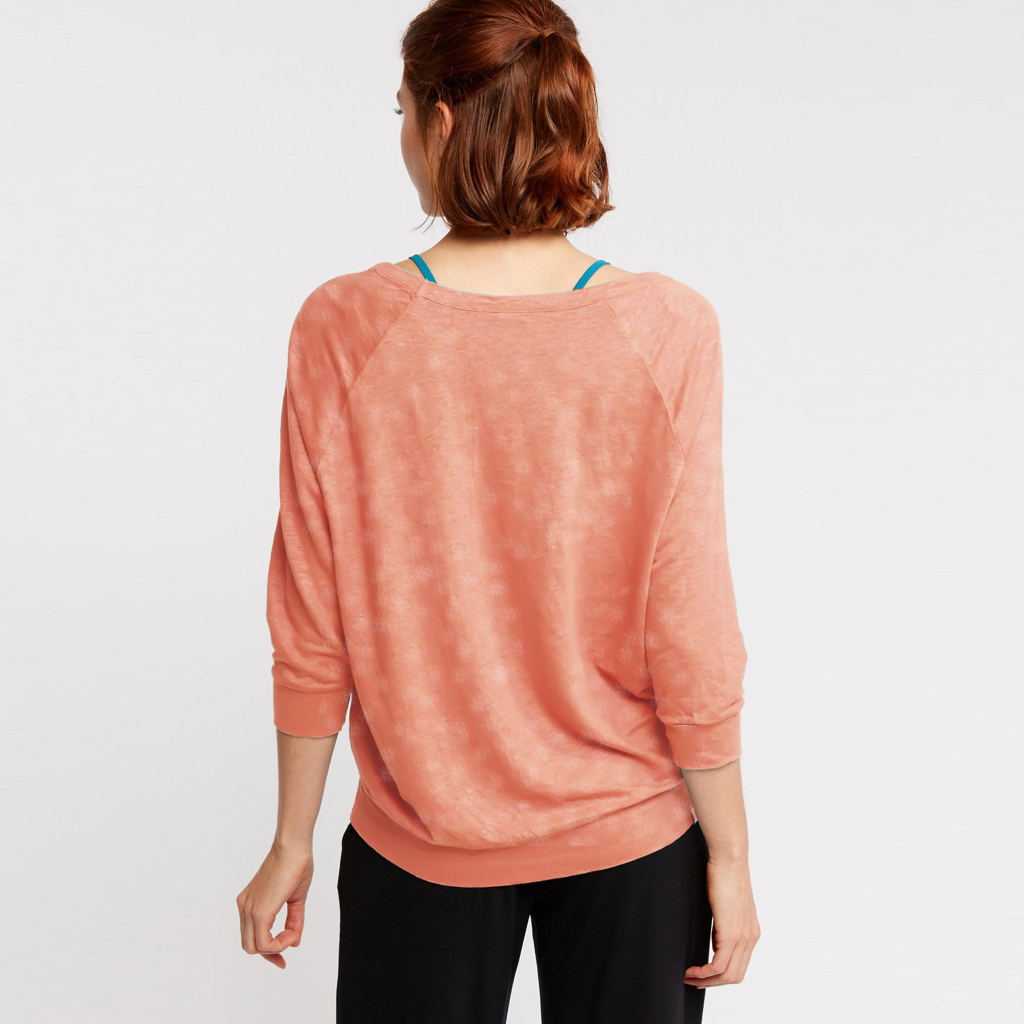 6e756ee21404d1 Fat Face Terry Summer Long Sleeve Stylish Blouse For Ladies-Light Peach  Faded-BE8469