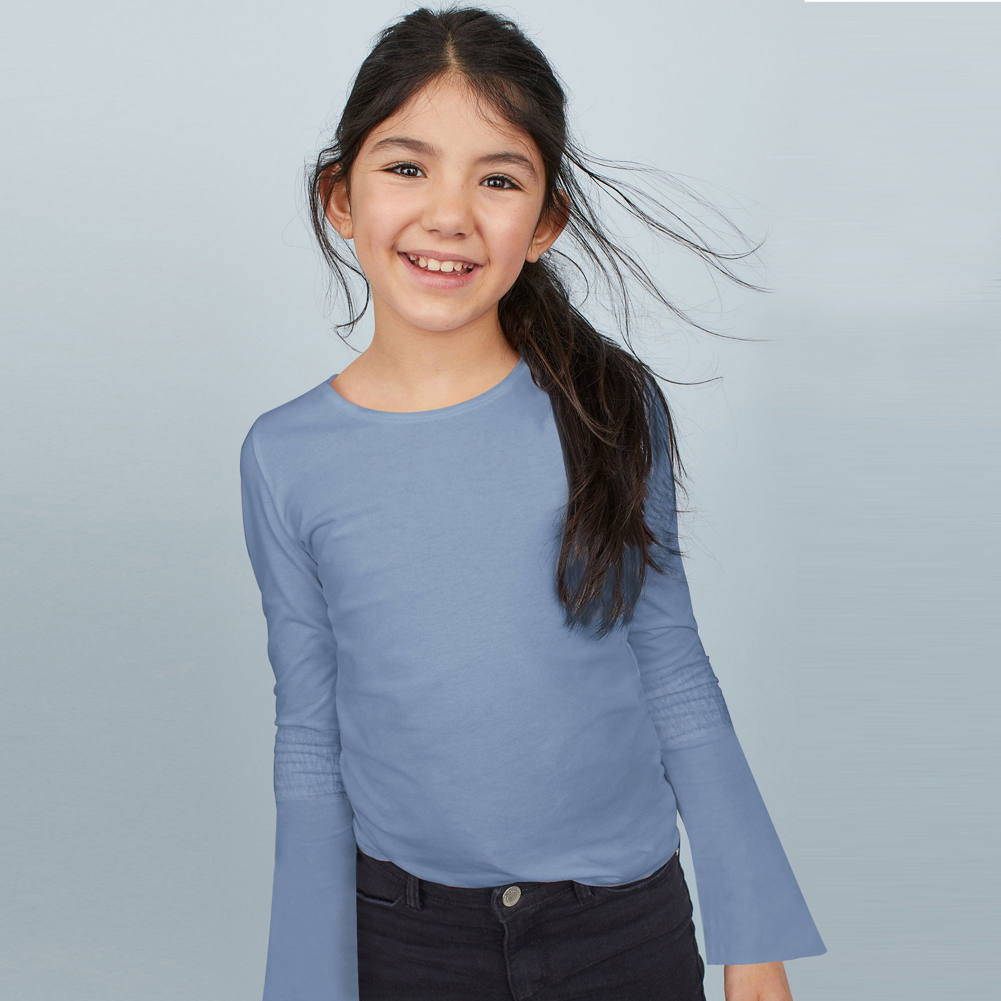 Favourite Tee Next Single Jersey Umbrella Long Sleeve Shirt For Girl-BE8524