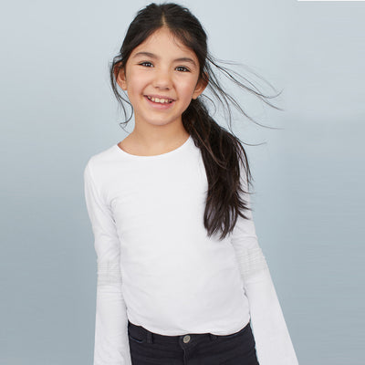 brandsego - Favourite Tee Next Single Jersey Umbrella Long Sleeve Shirt For Girl-BE8524