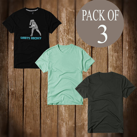 Pack Of 3 T Shirt For Men-AT40