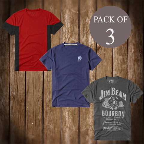 Pack Of 3 T Shirt For Men-AT45