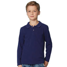 For us Babies Full Sleeve Polo Shirt For Boys-Blue-BE2387