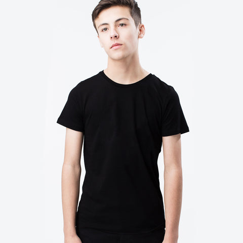 Kukri Crew Neck Half Sleeve T Shirt For Kid Cut Label -Black-BE2131