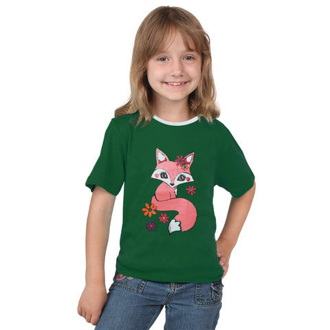 Fassion Crew Neck T Shirt For Kids -Dark Green-BE816