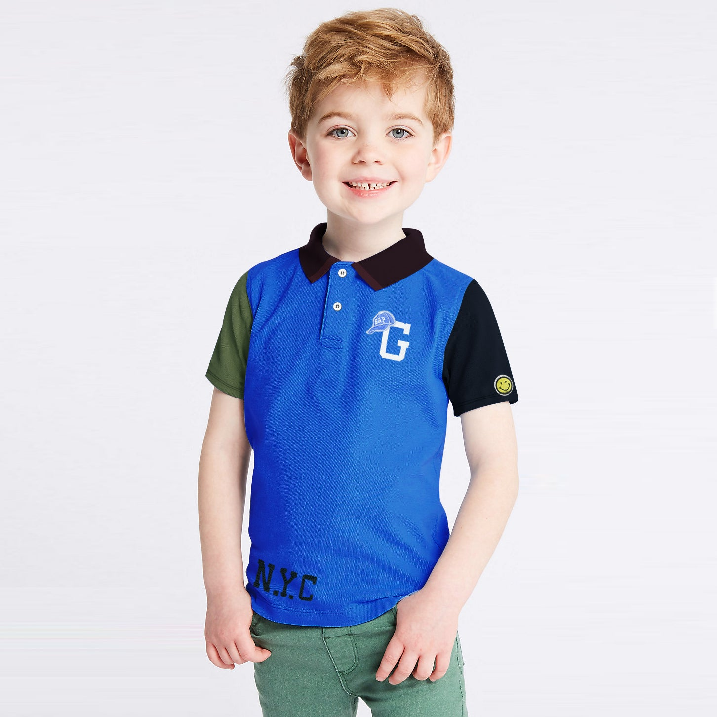 GAP Half Sleeve P.Q Polo Shirt For Kids-BE8526