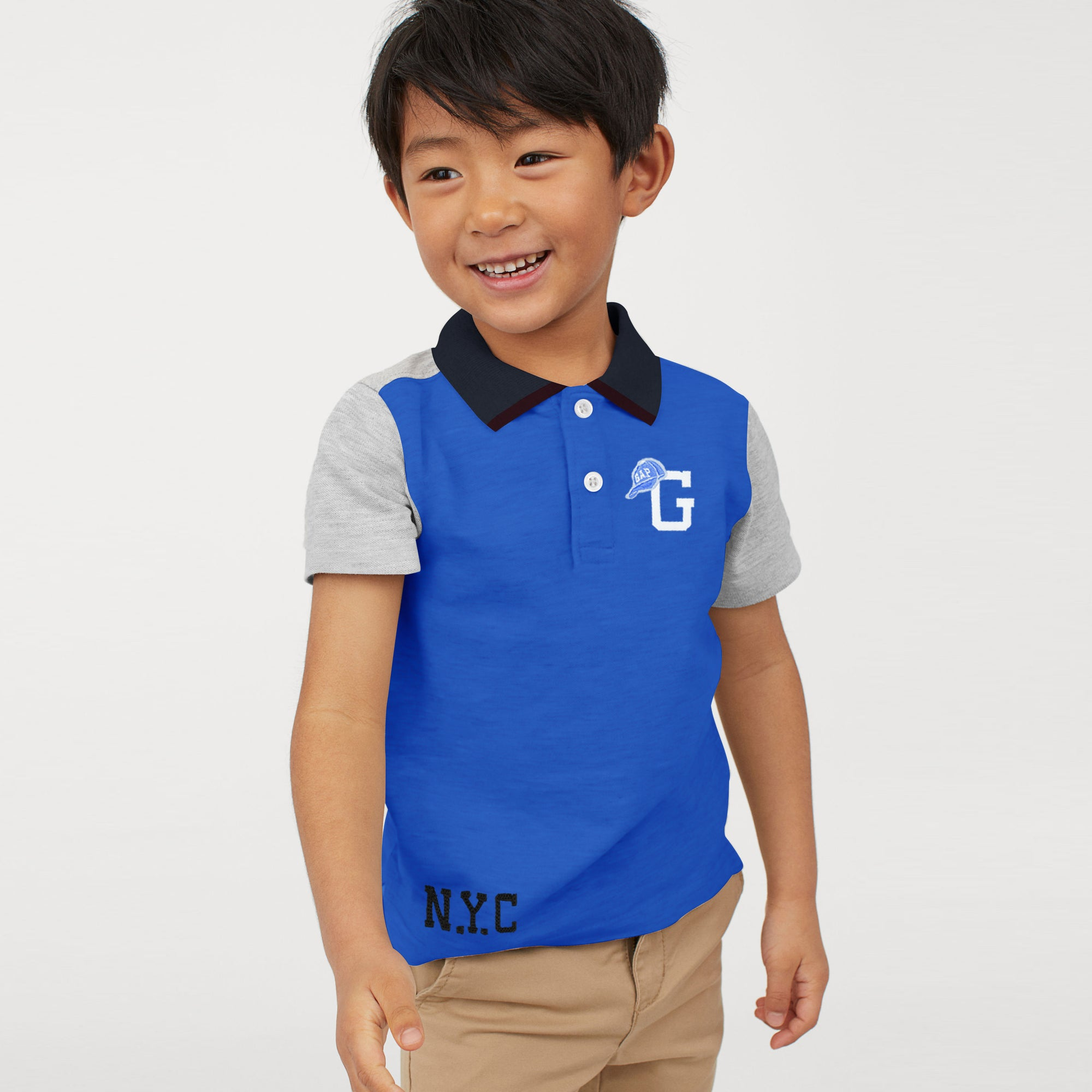 brandsego - GAP Half Sleeve P.Q Polo Shirt For Kids-BE8528