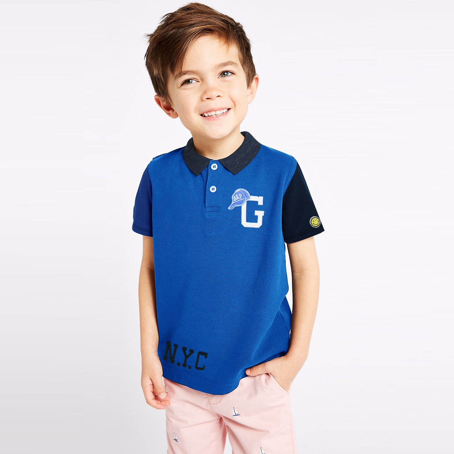GAP Half Sleeve P.Q Polo Shirt For Kids-BE8627
