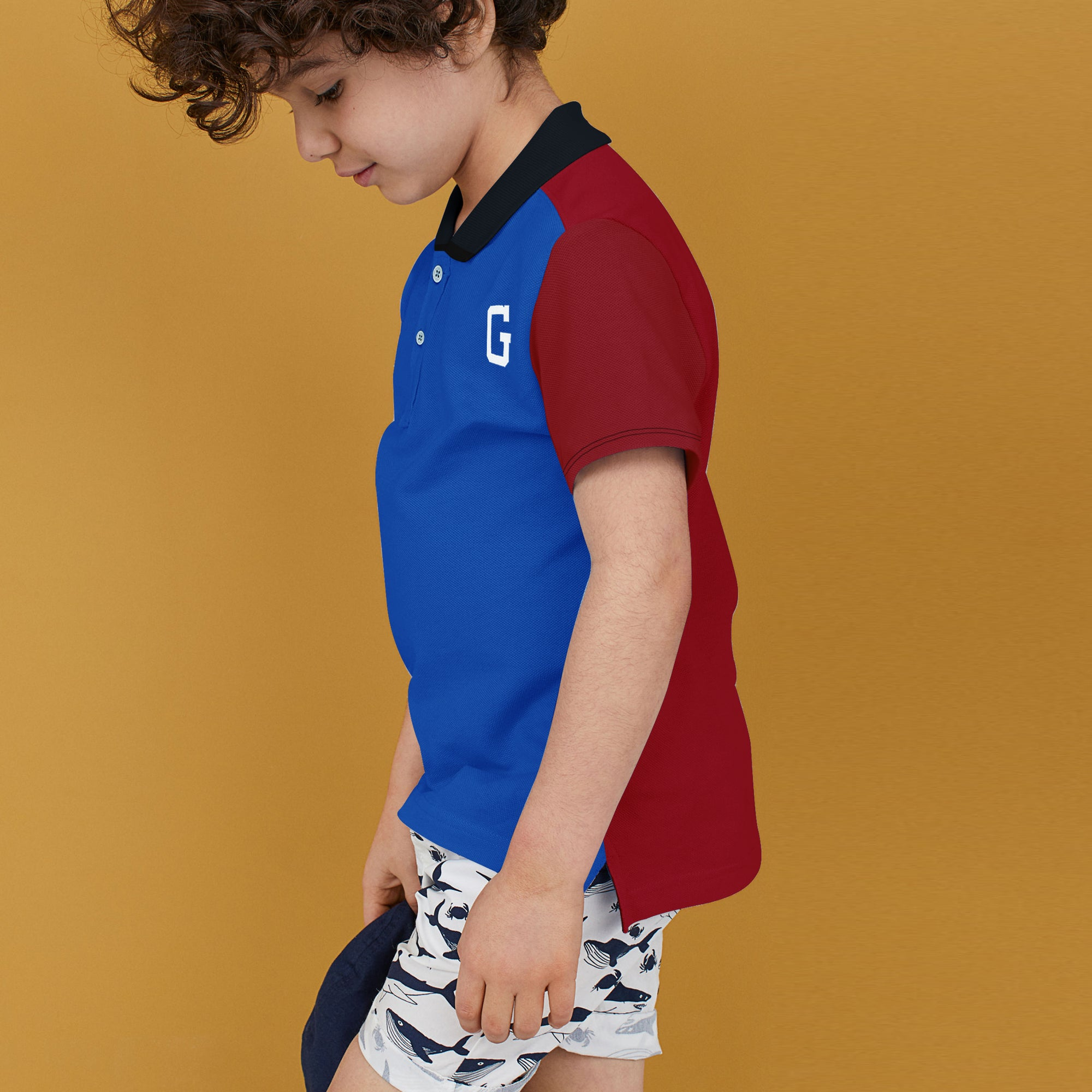 GAP Half Sleeve P.Q Polo Shirt For Kids-BE8628