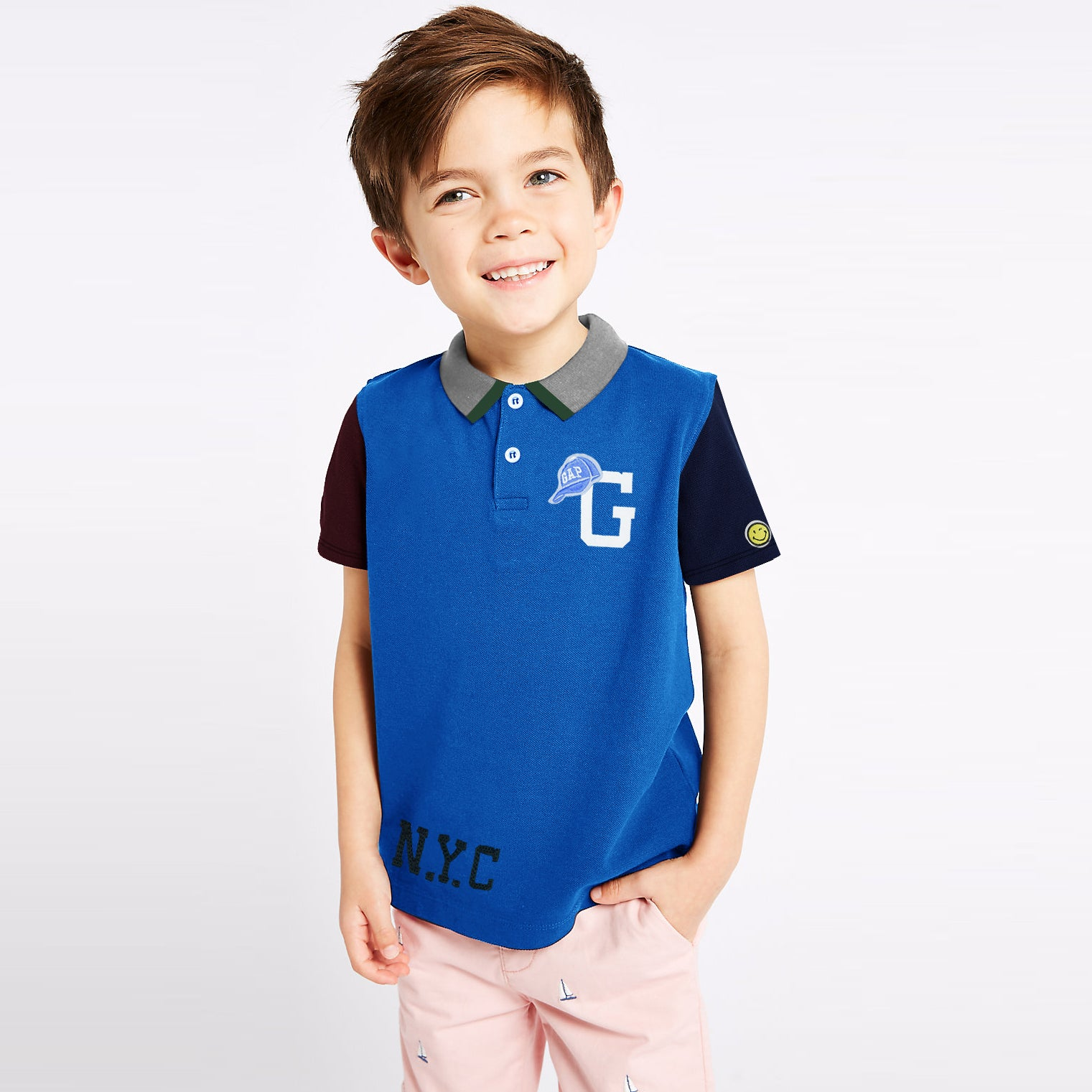 GAP Half Sleeve P.Q Polo Shirt For Kids-BE8629