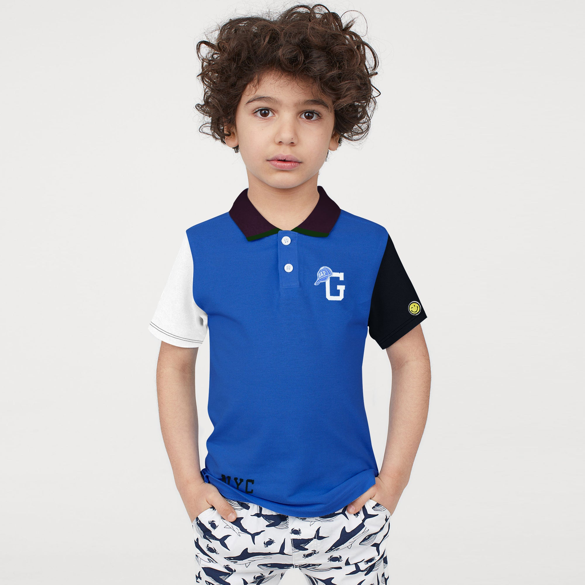 brandsego - GAP Half Sleeve P.Q Polo Shirt For Kids-BE8630
