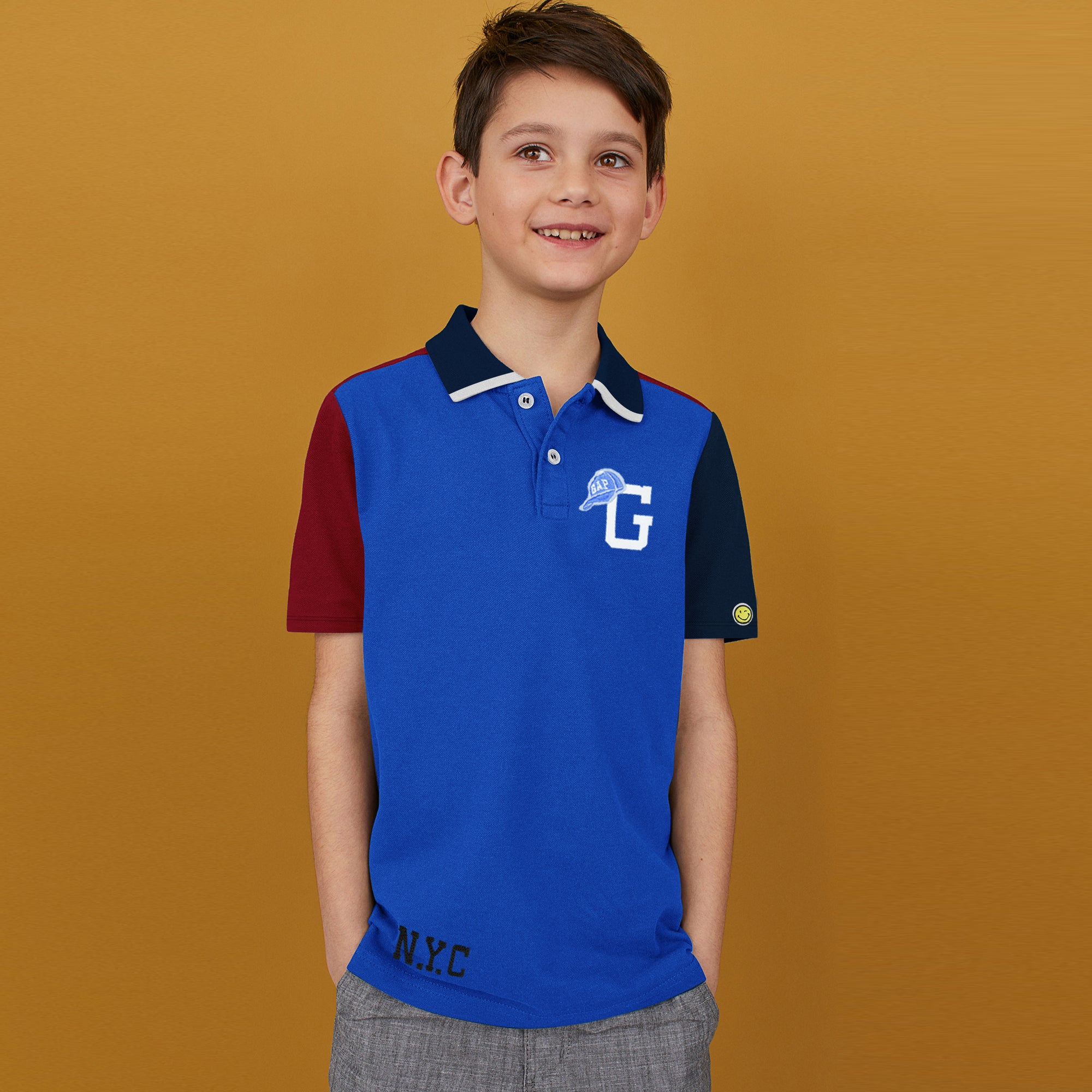 brandsego - GAP Half Sleeve P.Q Polo Shirt For Kids-BE8632