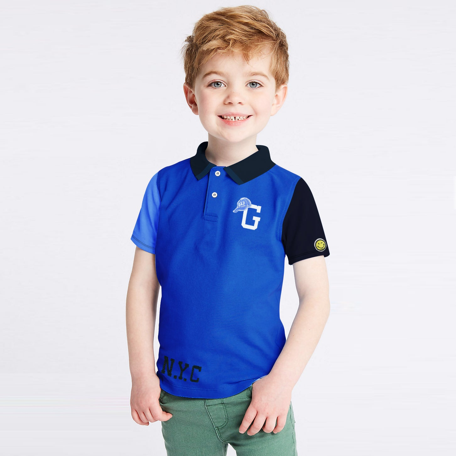 brandsego - GAP Half Sleeve P.Q Polo Shirt For Kids-BE8633