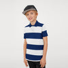 GAP Half Sleeve P.Q Polo Shirt For Kids-Navy With White Stripe-SP037