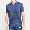 brandsego - GAP Short Sleeve P.Q Polo Shirt For Men-Light Navy & Black Stripe-BE8406