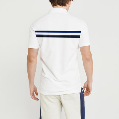 brandsego - GAP Short Sleeve P.Q Polo Shirt For Men-White & Stripe-BE8436