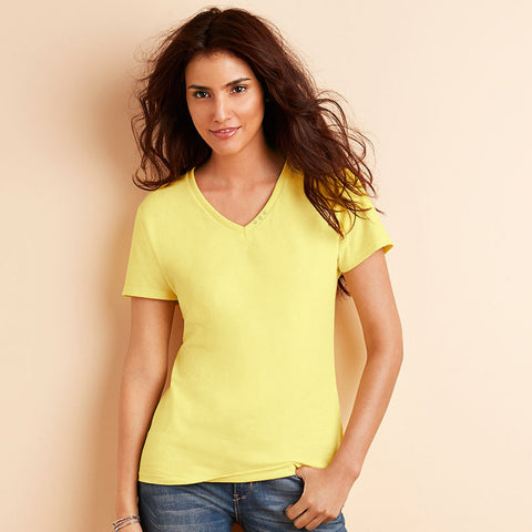 "B Quality Ladie's ""Fashion Junction"" Stylish Blouse-Light Yellow-SB558"