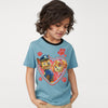 H&M Crew Neck Single Jersey T Shirt For Kids-Light Blue-BE8347