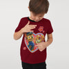 H&M Crew Neck Single Jersey T Shirt For Kids-Red-BE8344