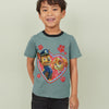 H&M Crew Neck Single Jersey T Shirt For Kids-Slate Grey-BE8348