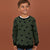 Tommy Hilfiger Terry Fleece Crew Neck Sweatshirt For Kids- Allover Print-SP716