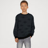 Tommy Hilfiger Terry Fleece Crew Neck Sweatshirt For Kids-Charcoal With Print-SP727