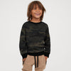 Tommy Hilfiger Terry Fleece Crew Neck Sweatshirt For Kids- Allover Print-SP721