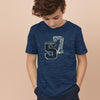 Beverly Hills Single Jersey Crew Neck Half Sleeve Shirt For Kids-Dark Navyl Melange-SP397