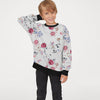 Tommy Hilfiger Terry Fleece Crew Neck Sweatshirt For Kids-Allover Print-SP809