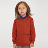 Next Heavy Jersey Pullover Hoodie For Kids-Dark Orange Melange-SP844