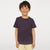Basic Crew Neck Single Jersey Tee Shirt For Kids-Purple Melange-NA11576