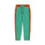TH Regular Fit Terry Fleece Jogger Trouser For Kids-Cyan With Dark Orange Stripes-SP3881
