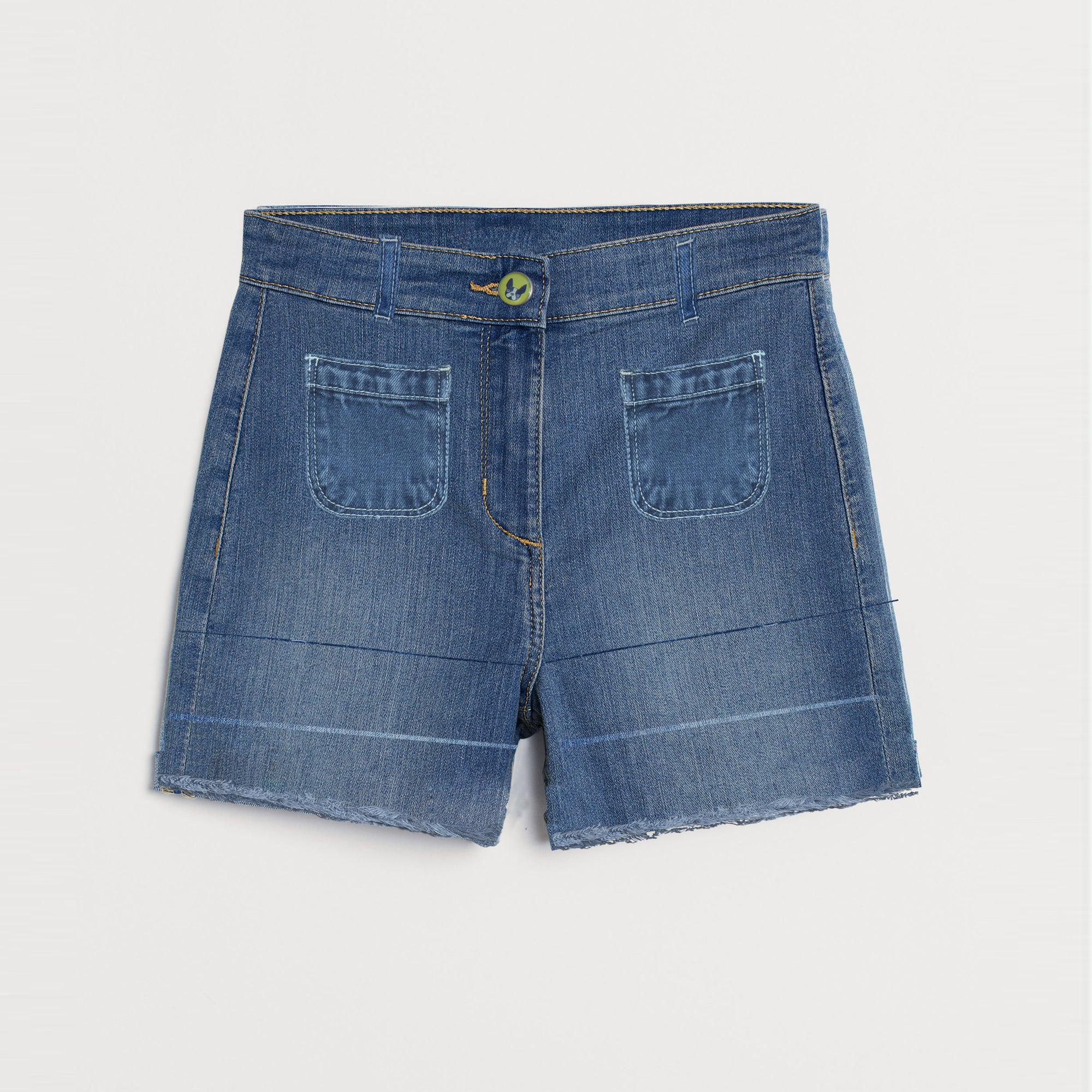 brandsego - Kite & Cosmic Denim Short For Ladies-Blue-SP504