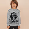 Next Tharmal Crew Neck Sweatshirt For Kids-Dark Grey-SP812