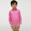 Karat Button Down Casual Shirt For Boys-Pink Melange-NA8630