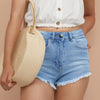 Candy Denim Short For Girls-Dirty Wash-SP107