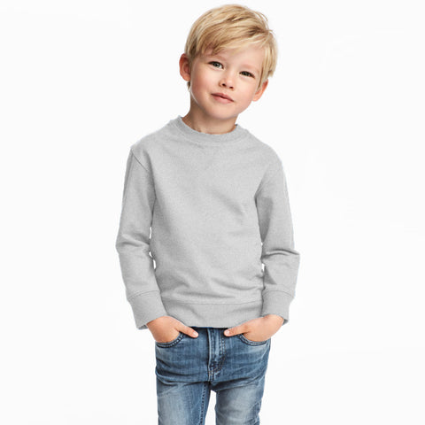 Next Fleece Sweatshirt For Kids-Grey-BE3702