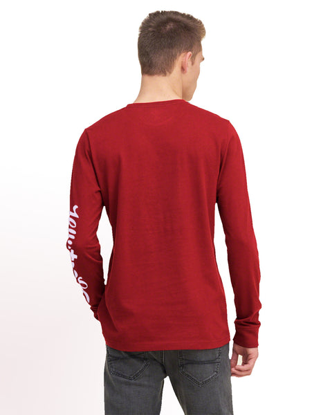 "Men's ""Hollister"" Long Sleeves Fashion Crew Neck - Red (HS202)"