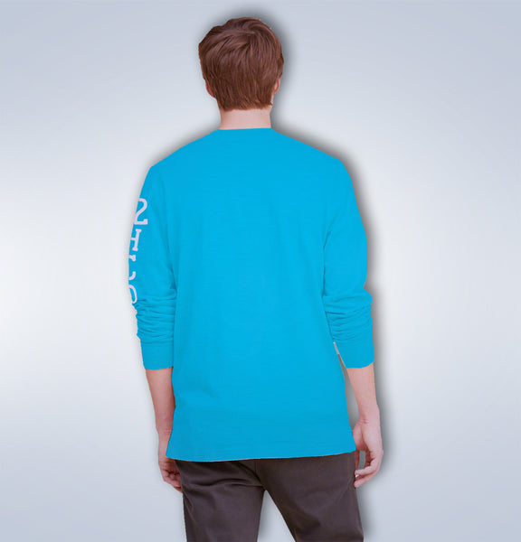 "Men's ""Hollister"" Long Sleeves Fashion Crew Neck - Royal Blue (HS201)"