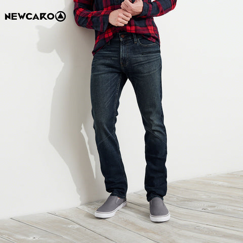 New Caro Dark Jeans Slim Fit Faded For Men-Dark Navy-NCJ02