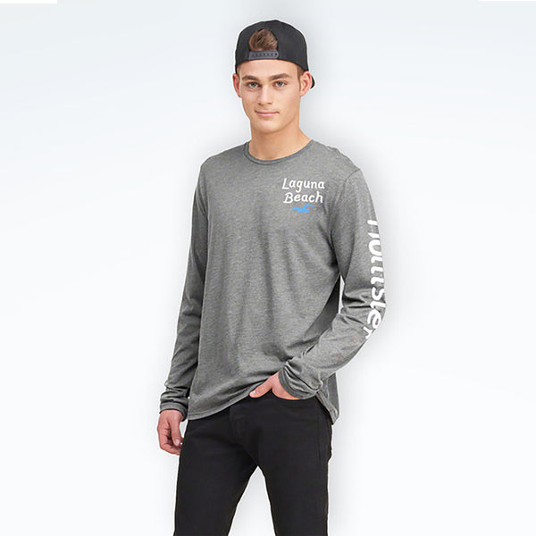 "Men's ""Hollister"" Long Sleeves Fashion Crew Neck -Grey (HS203)"