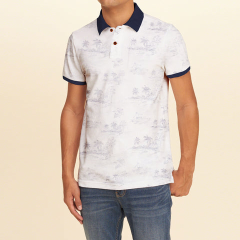 Fat Face Polo Shirt For Men Cut Label-White-BE687
