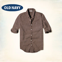 Old Navy Exclusive Casual Shirt-Dark Brown Check-ONCS12
